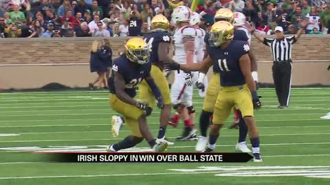 Notre Dame unsatisfied despite victory over Ball State