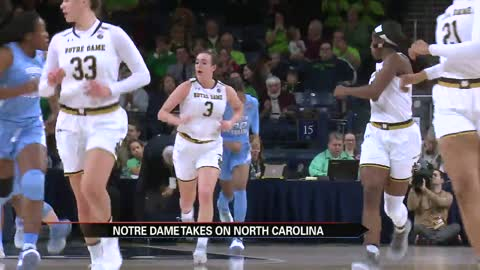 Notre Dame women cruise past UNC for program's 950th win