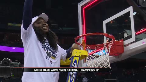 Notre Dame women's basketball wins national championship on final shot