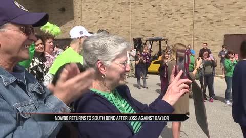 Notre Dame women's basketball team welcomed back to South Bend on Monday