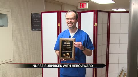 Memorial Hospital nurse given the Hero Award