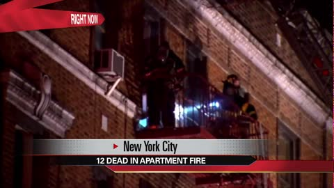 'Worst NYC fire' in 25 years kills at least 12, injures 4 people