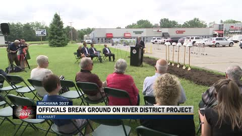 Officials break ground on Elkhart's River District Project