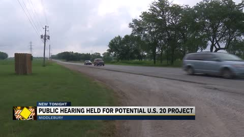 Officials from INDOT host a hearing on a plan to expand highway...
