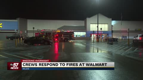 Officials:  Small fires at Niles Walmart were set intentionally