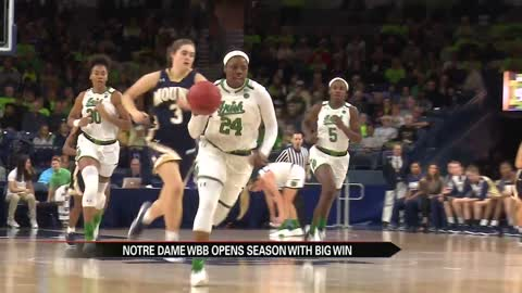 Ogunbowale eclipses 1,000th point in season-opening Irish win