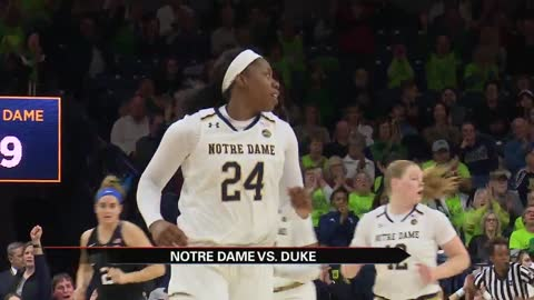 Ogunbowale sets scoring record as Irish roll past Duke