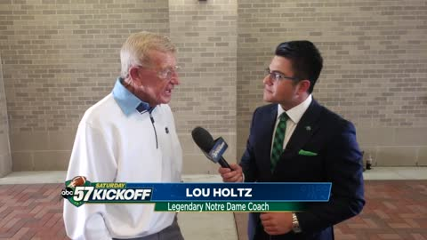 One-on-one with legendary Notre Dame coach Lou Holtz