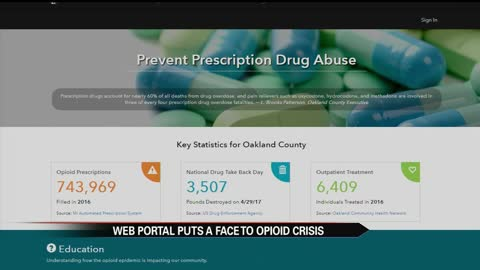 Opioid web portal puts a face to the crisis