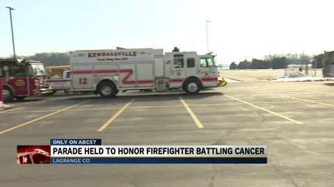 First responders show support for firefighter battling cancer