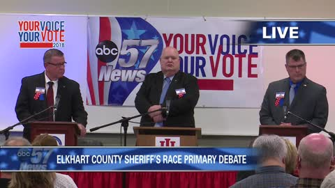 part 1 elkhart county sheriff candidate debate