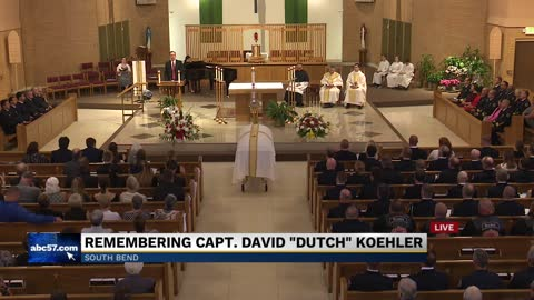 "Funeral for South Bend Fire Captain David ""Dutch"" Koehler"
