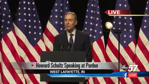 WATCH: Howard Schultz speech at Purdue University