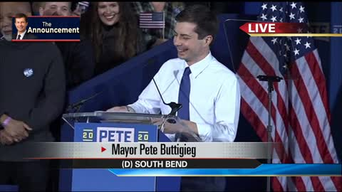 WATCH: South Bend's Pete Buttigieg announces he's running for president