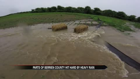 Parts of Berrien County hit hard by rain