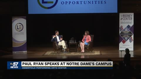 Paul Ryan speaks at DeBartolo Center in Notre Dame (part 2)