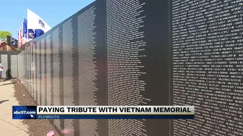 Paying tribute to vietnam memorial