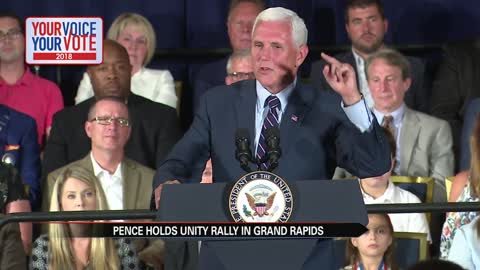 pence holds rally in grand rapids