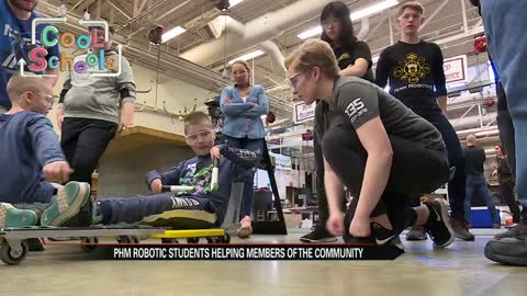 Penn High School students build special scooter for boy with...
