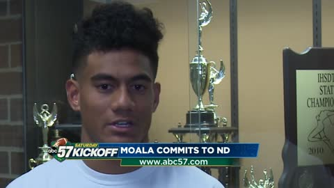 Penn senior Paul Moala discusses commitment to Notre Dame football