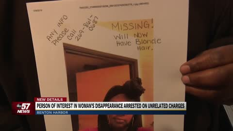 Person of interest in woman's disappearance arrested on unrelated...