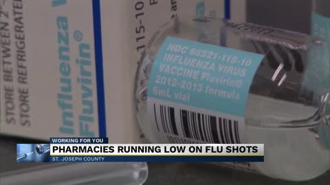 Pharmacies running low on flu shots