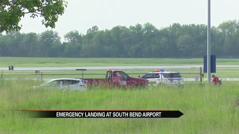 Plane makes emergency landing at South Bend Airport