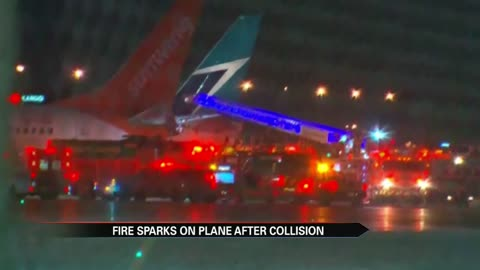 Planes collide on Toronto airport tarmac, fire prompts evacuation