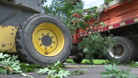 Plymouth family cleans up storm damage, Marshall County warns of flooding
