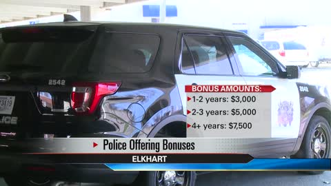Elkhart Police Department offers sign-on bonuses to veteran officers