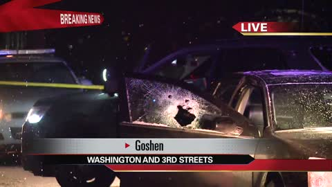 Police chase ends with officer firing shots in downtown Goshen