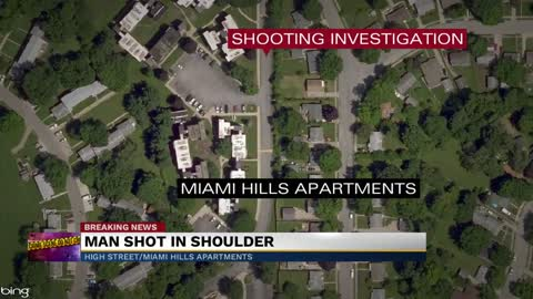 Police investigate a shooting Saturday morning near a South side...