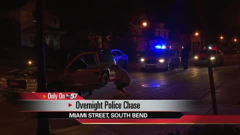 Police pursuit ends in South Bend