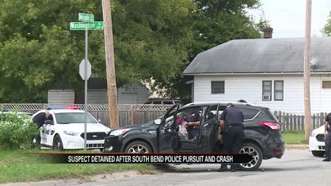 Police pursuit in South Bend ends in crash