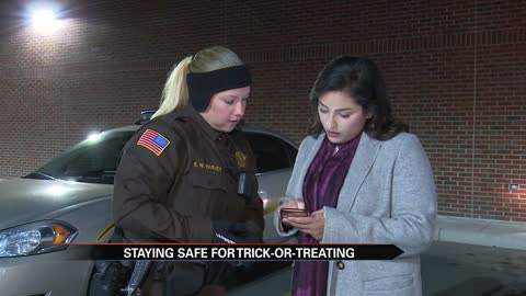 Police share Halloween safety tips; demonstrate sex offender database app