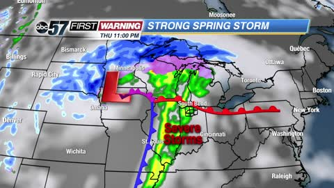 Powerhouse system; historic blizzard north, severe weather south