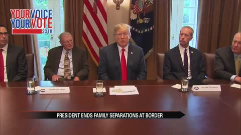 President Trump ends family separation at the border
