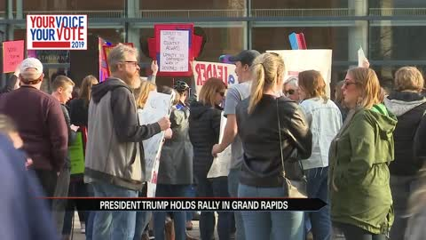 President holds rally in Grand Rapids