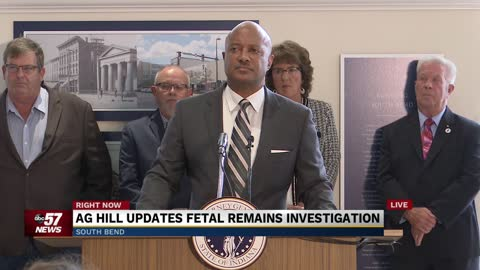 Press conference on fetal remains