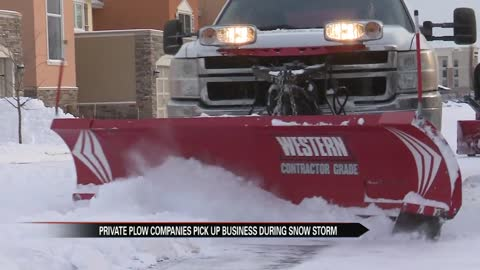 Private snow plow companies see increased business during snow...