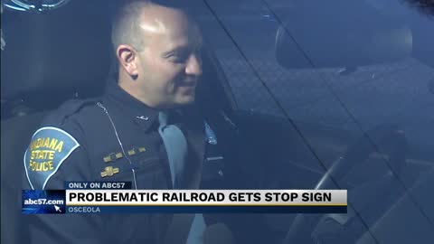 New stop sign at railroad causing headaches