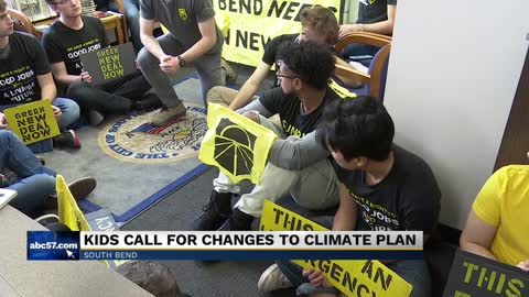 Group stages sit-in at Mayor Pete Buttigieg's office to protest...