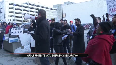 South Bend protestors concerned with border wall emergency declaration