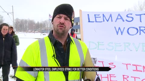 Protestors rallied against LeMaster Steel in Elkhart on Wednesday