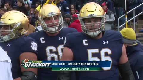 Quenton Nelson leads Irish through words and actions