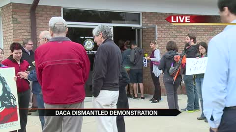 Dozens gather to protest DACA dismantling