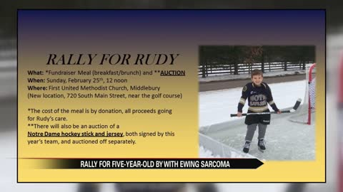 Rally for Rudy: Fundraiser and auction for boy with Ewing Sarcoma