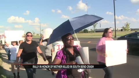 Rally held in honor of mother killed in crash involving SBPD officer
