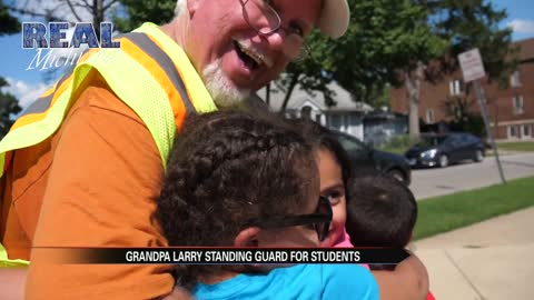 Real Michiana: Grandpa Larry standing guard for students