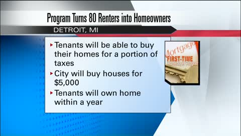 Program turns renters into homeowners